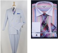This double breasted seersucker is a new style this year from Royal Diamond. #menssuits #mensstyle #mensfashion