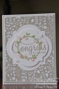 April 9, 2015 Stampin' with Marcy:  Stampin' Up! Your Perfect Day, Something Borrowed DSP