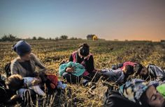 October 24, 2015 MAURICIO LIMA FOR THE NEW YORK TIMES A member of the Majid family, Roujin Sheikho, center, rested with her daughter and other kin in a Serbian field in late August.