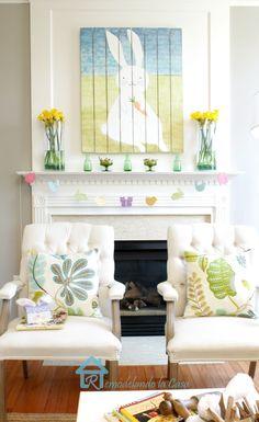 Beautiful Spring Mantel Ideas..