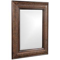 Howard Elliott Grant Antique Brown Mirror