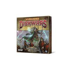 Warhammer: Diskwars. Legiones de la Oscuridad   Nuevas hordas para engrosar tus filas en Warhammer: Diskwars.  Legiones de la Oscuridad amplía la elección de tropas con un ejército completo de Condes Vampiro, junto con nuevos regimientos de Elfos Oscuros y Skaven, y discos de refuerzo para Caos y Orcos.