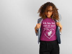 Neues T-Shirt – Design ab 14,49€.  Zur Kategorie Sprüche & Schriftzüge: http://vip-shirts.de/#!spr%C3%BCche+&+schriftz%C3%BCge?q=T403045  #vip #shirt #tshirt #ichbinliebundoftböse #lieb #böse #love #happy #cool #fun #spass #witzig #exklusive #trendy