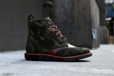 Dr. Marten Bowery  Red/ Woodland Camo