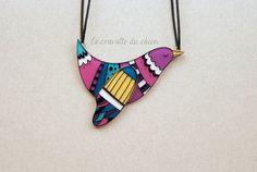 Bird necklace animal bird jewelry gift for by lacravatteduchien, €20.00