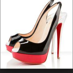 Christian Louboutin Patent Leather 'Lady Peep Sling' Platforms : Christian Louboutin shoes, christian louboutin us Crazy Shoes, Me Too Shoes, Hot Shoes, Dream Shoes, Lady, Christian Louboutin Outlet, Red Bottom Shoes, Peep Toe Platform, Platform Shoes