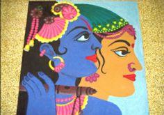 #Radha #Krishna #Rangoli Design