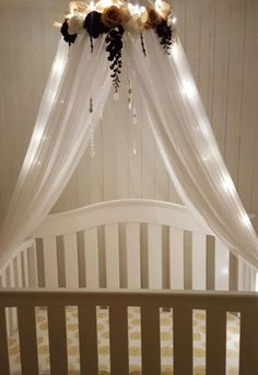 Bed canopy from Bed Bath and Beyond. Unicorn crown crafted as addition. For little girlu0027s room. | Unicorn Nursery | Pinterest | Canopy Unicorns and Bath & Bed canopy from Bed Bath and Beyond. Unicorn crown crafted as ...