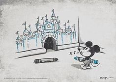 Картинки через We Heart It #always #believe #Best #blue #castle #crayons #disney #drawing #Dream #forever #mickeymouse #mouse #sing #mousehole
