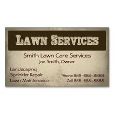 The 210 best lawn care business cards images on pinterest business lawn care landscaping services business card reheart Choice Image