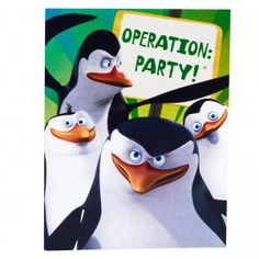 Penguins of Madagascar Invitations - $3.47 - Birthday at aWise.org - OPERATION PARTY!