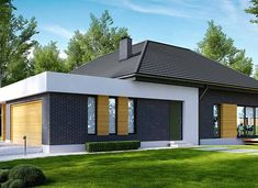 HomeKoncept-27 - zdjęcie 3 Layouts Casa, House Layouts, Village House Design, House Front Design, Beautiful House Plans, Beautiful Homes, Contemporary House Plans, Modern Fireplace, Residential Architecture