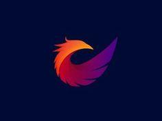 Phoenix Logo 2 by Łukasz Pachytel Phoenix Images, Art Therapy Projects, Abstract Logo, Animal Logo, First Tattoo, Grafik Design, Graphic Design Inspiration, Brand Inspiration, Art Logo