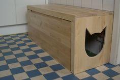 how to hide cat litter box diy