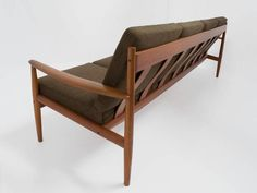 Mid-Century Sofa by Grete Jalk Sofa Long 4-Seat in Teak for France & Son 2