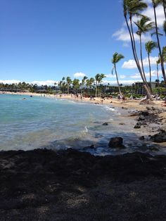 """Friday 9/12 Waikoloa beach in Kailua-Kona, HI  From Jeff Reynolds, """"One of my favorite places on the island is the shoreline trail in Waikoloa. Park south of the Hilton and head towards the ocean. You'll find turtles, tide pools, drift wood, amazing views and few other people.""""  http://thepointsguy.com/2012/02/destination-of-the-week-hawaii-the-big-island/"""