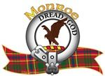 "Monroe Clan Tartan the Crest ""An eagle perching Proper"". The Monroe Clan Motto is chosen by the Clan Chief. ""Dread God"". MacRory Mor"