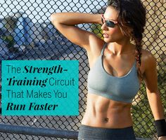 This strength circuit hits the sweet spot where your body gets the extra juice it needs to run faster without postworkout soreness slowing you down. Cross Training Workouts, Running Workouts, Running Training, Running Tips, Training Exercises, Circuit Training, Cardio Workouts, Hiit, Strength Training For Runners