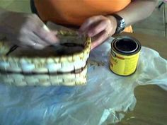 Basket Weaving Video  -  Staining your basket