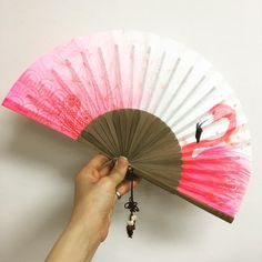 Hand Held Fan, Hand Fan, Cool Umbrellas, To Go, Flamingo, Journal Diary, Brainstorm, Drawings, Fans