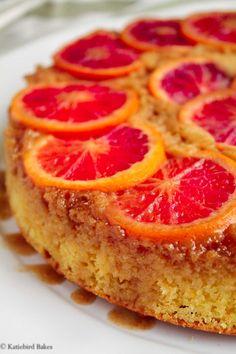 Blood Orange Upside-Down Cake - katiebirdbakes.com