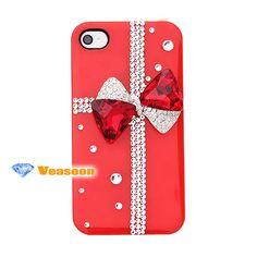 Iphone 4 case ,Iphone 5 case ,Hot pink iphone case .bow iphone case