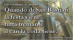 Quando di #San #Sebastian la #festa #viene tutta tremante il #can la #coda tiene. (#SanSebastiano, 20 gennaio) Patrono della #Guardia #svizzera #pontificia  #polizia #arcieri #sportivi