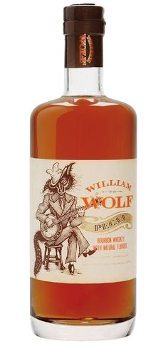 William Wolf Whiskey Label Illustrated by Steven Noble on Packaging Design Served