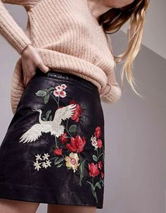 Skirt Trends for 2017 - Pasaboho presents embroidery collections