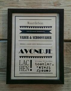Kerstcadeau, waardebon! Paper Cards, Little Gifts, Babyshower, Presents, Letters, Stickers, Quotes, Fun, Poster