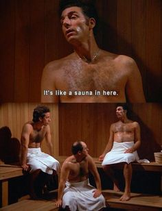 "Cosmo Kramer - ""It's like a sauna in here."" - from TV series Seinfeld Memes Humor, Funny Jokes, That's Hilarious, Baguio, South Park, Funny Videos, Tv Quotes, Movie Quotes, Just For Laughs"