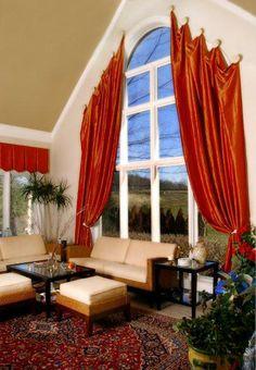 window treatments for my arch windows.