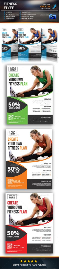 Flyer template, Fitness and Templates on Pinterest - fitness flyer template
