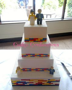 smaller and minus bride and groom this is a cute idea for a kids cake