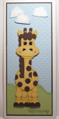 I'll use my fav giraffe image & make a skinny card like this - soooo cute!!