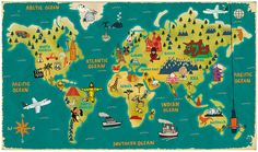 The World by Paul Thurlby, via Flickr #map #illustration