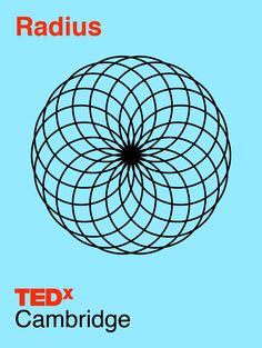 Created by San Francisco based designer: Phil Pham / philphamdesign.com -- Massachusett's TEDxCambridge  / TEDX  / Brand Design / Poster / Swiss / Geometric / Circle