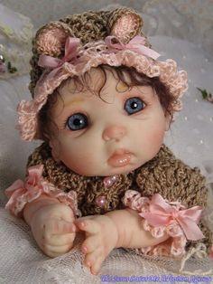 OOAK Polymer Clay Art Doll Baby by Mommakappie | eBay