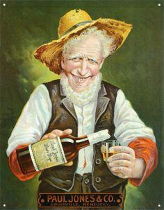 Paul Jones Rye Whiskey Tin Sign at AllPosters.com