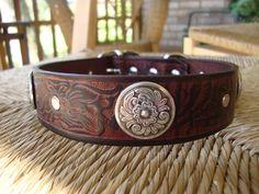 Custom Bridle Leather Dog Collar