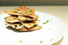 Taiwanese Food - Snacks - Fried Spring Onion Pancake 蔥油餅 #Taiwan