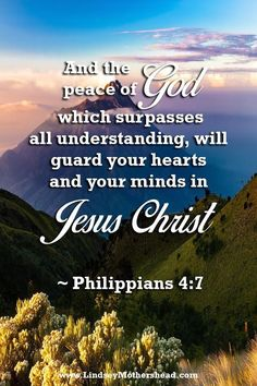 And the peace of God which surpasses all understanding, will guard your hearts and your minds in Jesus Christ - Philippians Biblical Quotes, Faith Quotes, Bible Quotes, Christian Faith, Christian Quotes, Christian Pics, Peace Of God, Word Of God, God Is Amazing