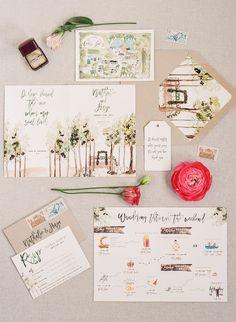 Wedding venue: http://cedarlakesestate.com | Photography: http://karenhill.com | Stationery: http://www.wideeyespaperco.com | Read More: https://www.stylemepretty.com/2018/01/12/cedar-lakes-estate-wedding/