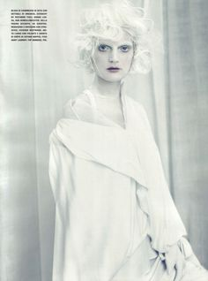 """A white story"" Vogue Italia 2010 Photographer: Paolo Roversi Models: Sasha Pivovarova, Guinevere van Seenus Fashion Editor: Jacob K"