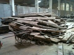 Collected Wood from Vietnamese Fishing Boats!