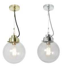 Lampa sufitowa szklany klosz przeźroczysty FP540 - Boutique Pierrot