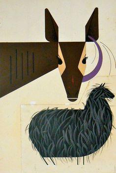 Okapi by Charley Harper, Ford Times, Ocotober 1951.
