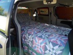 Interior view of my camper van