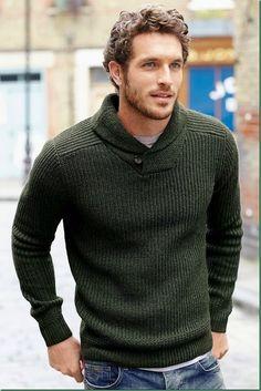 40 dynamic winter fashion ideas for men sweater for men, mens winter sweaters, mens Mens Winter Sweaters, Men Sweater, Mens Sweater Outfits, Green Sweater Mens, Mens Shawl Collar Sweater, Brown Sweater, Mode Masculine, Fashion Night, Winter Fashion