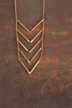 Brass chevron necklace. I heart chevron everything. The End.